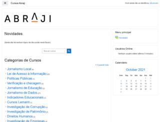 cursos.abraji.org.br screenshot