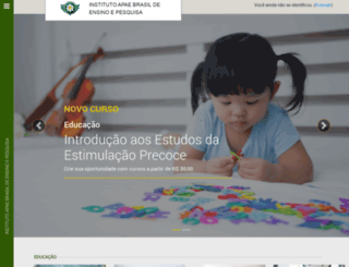 cursos.uniapae.org.br screenshot