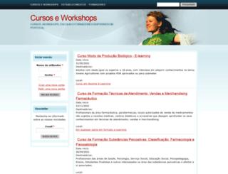 cursoseworkshops.com screenshot
