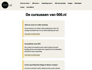 cursus.000.nl screenshot