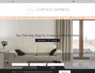 curtainexpress.com.au screenshot