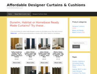 curtainsandcushions.co.uk screenshot