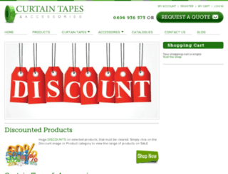 curtaintapes.com.au screenshot
