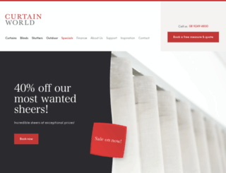 curtainworld.com.au screenshot