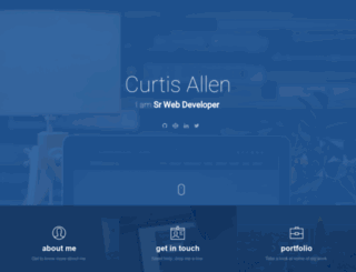curtisaallen.net screenshot