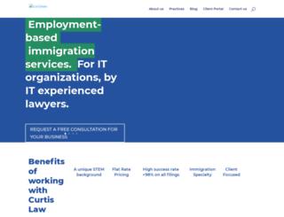 curtisimmigrationlaw.com screenshot