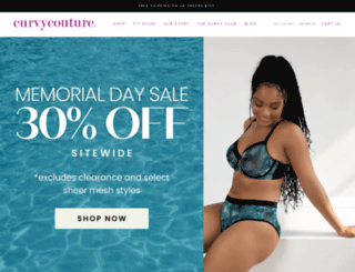curvycouture.com screenshot