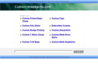custom-snapbacks.com screenshot
