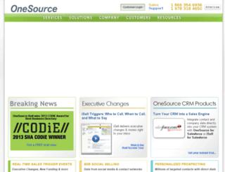 custom.onesource.com screenshot