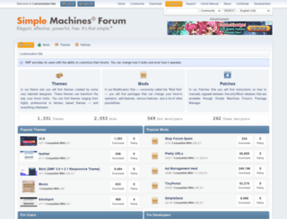 custom.simplemachines.org screenshot