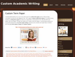 customacademicwriting.wordpress.com screenshot