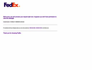 customcritical.fedex.com screenshot