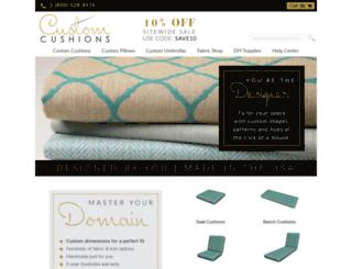 customcushions.com screenshot