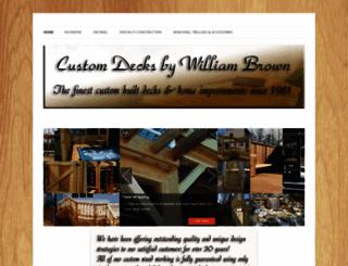 customdecksbywilliambrown.com screenshot