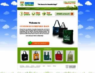 customecofriendlybags.com screenshot