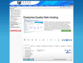 customer.hagenhosting.com screenshot