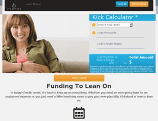 customer.kickstandlending.com screenshot
