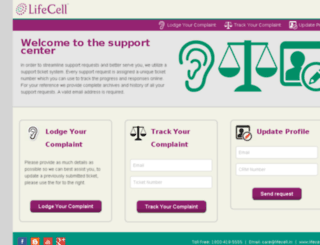 customer.lifecell.in screenshot