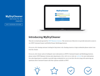 customer.mydrycleaner.com screenshot