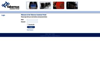 customer.tabernus.com screenshot