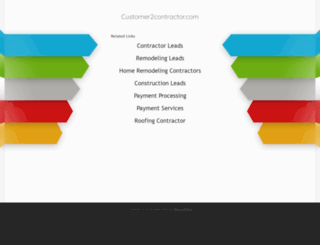 customer2contractor.com screenshot