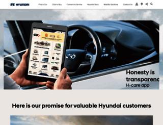 customercare.hyundai.co.in screenshot