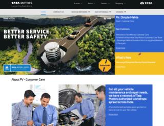 customercare.tatamotors.com screenshot