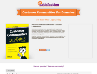customercommunityfordummies.com screenshot