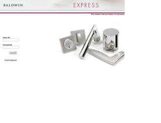 customerportal.baldwinhardware.com screenshot
