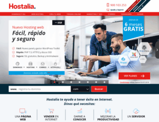 customers.hostalia.com screenshot