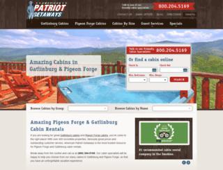 customers.patriotgetaways.com screenshot