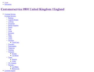customerservice0800.co.uk screenshot
