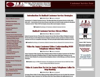 customerservicezone.com screenshot