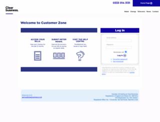 customerzone.clearbusinesswater.co.uk screenshot