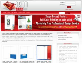 customfoldersprint.com screenshot