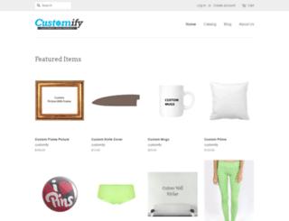 customify.myshopify.com screenshot