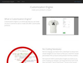 customizationengine.com screenshot