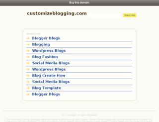 customizeblogging.com screenshot