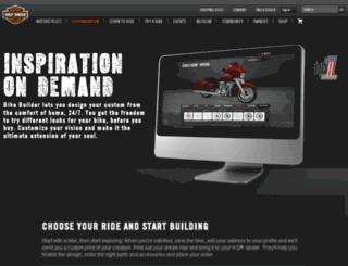 customizer.harley-davidson.com screenshot