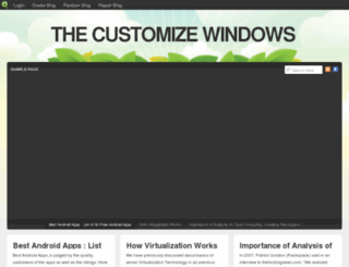 customizewindows.blog.com screenshot