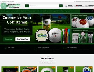 custommadegolfevents.com screenshot
