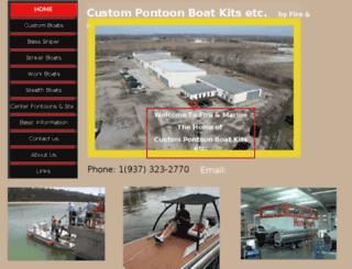 custompontoonboatkitsetc.com screenshot
