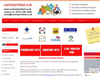 customprinted.co.uk screenshot