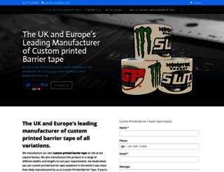 customprintedbarriertape.co.uk screenshot