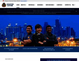customs.gov.sg screenshot