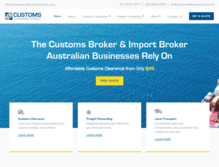 customsclearanceworld.com.au screenshot