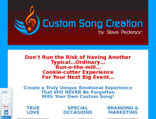 customsongcreation.com screenshot