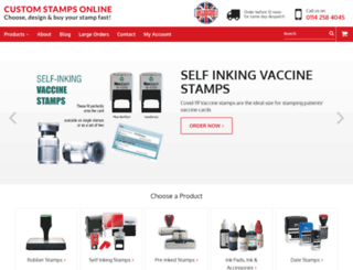 customstampsonline.com screenshot