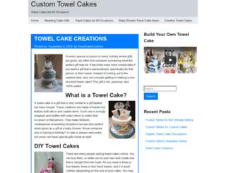 customtowelcakes.com screenshot