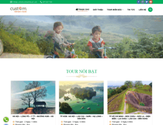 customvietnamtravel.com.vn screenshot